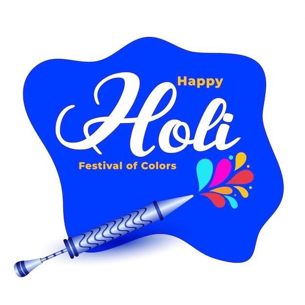 Happy holi hindu traditional festival background Free Vector