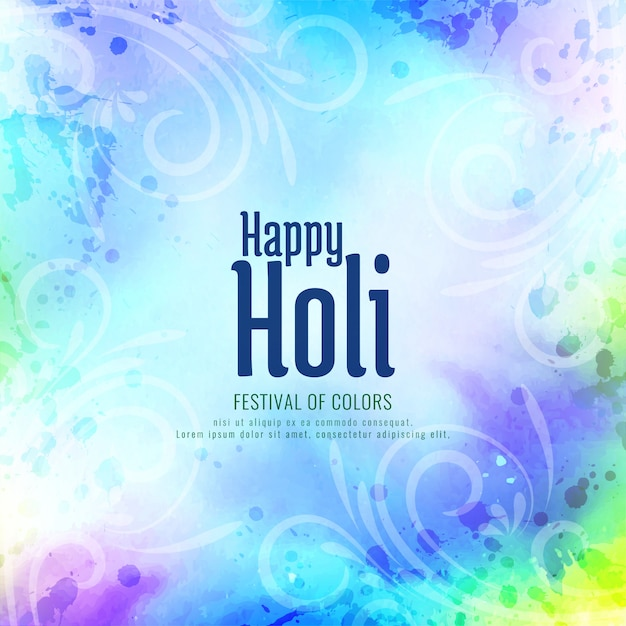 Happy holi indian religious festival Premium Vector