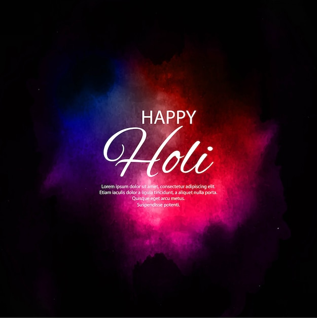 Happy holi indian spring festival of colors background Free Vector
