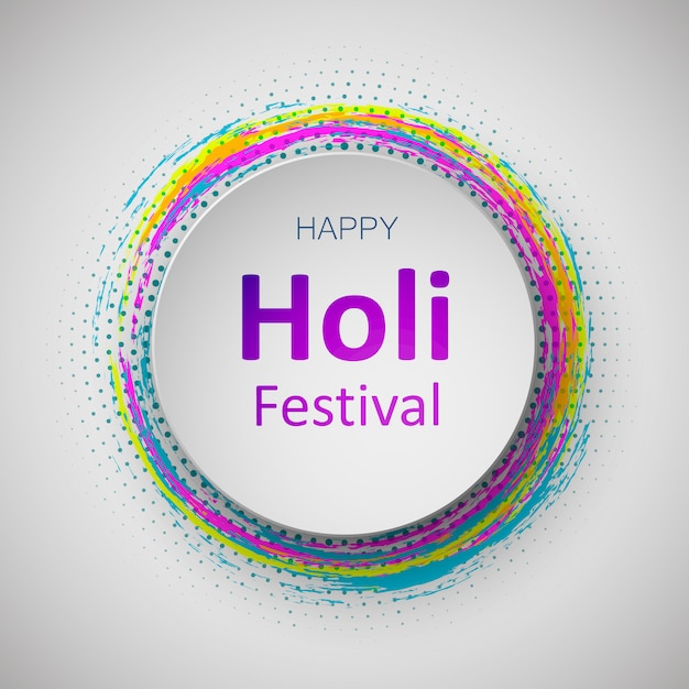 Happy holi indian spring festival of colors. colorful illustration or background and flyer for holi festival, holi celebration. Premium Vector