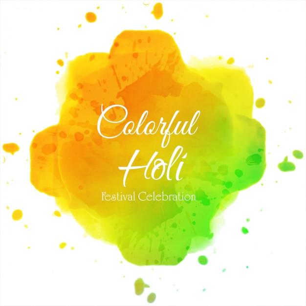 Счастливый холи индийский весенний фестиваль цветов фона Premium векторы