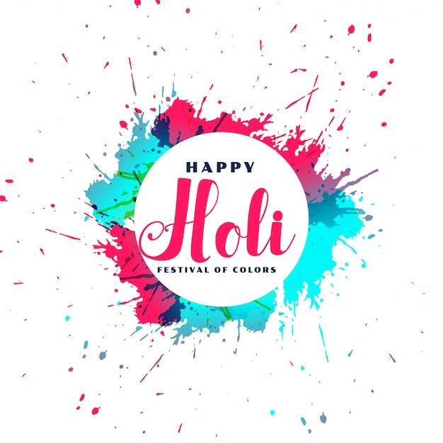 Карточка с цветочным эффектом happy holi Бесплатные векторы