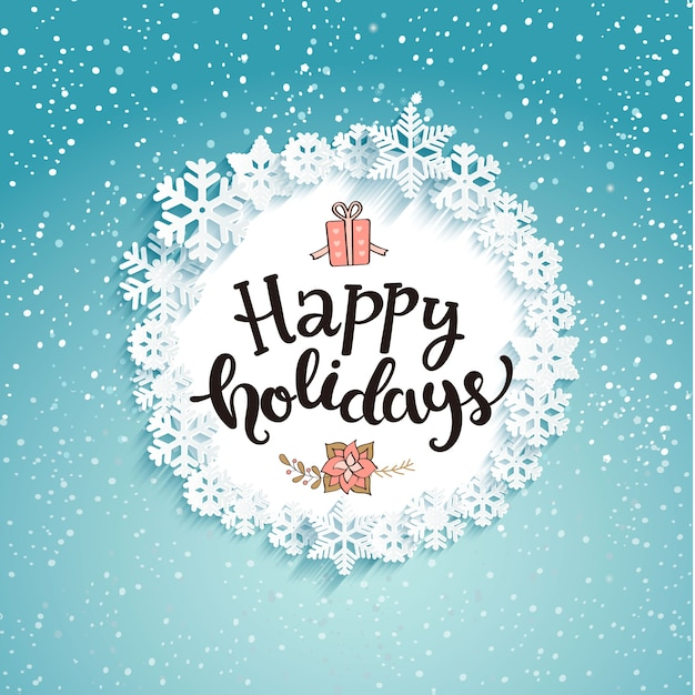 Happy holidays Greeting Card. Vector | Premium Download