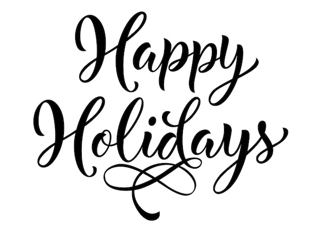 happy holidays lettering vector free download rh freepik com happy holidays vector art free free happy holidays text vector