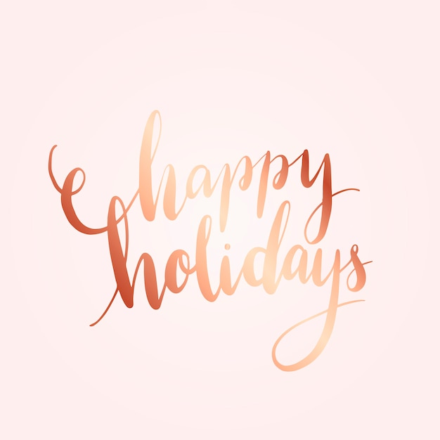 Happy holidays typography style vector Free Vector