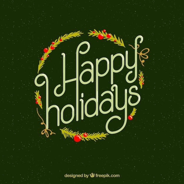 Happy holidays Free Vector