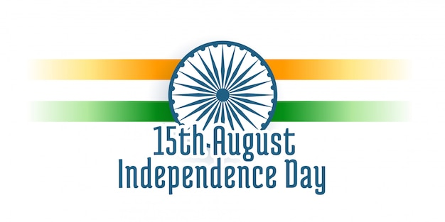 Happy independence day of india background Free Vector