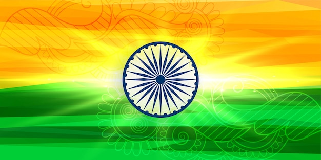 Happy independence day indian background Free Vector
