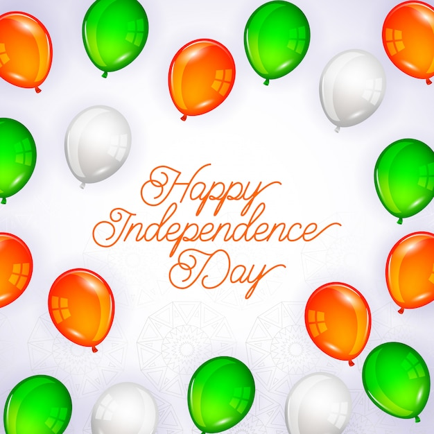 Happy india independence day card Premium Vector
