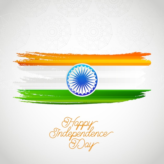 happy india independence day card vector  premium download