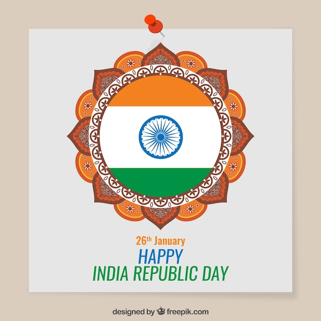 Happy India Republic Day card