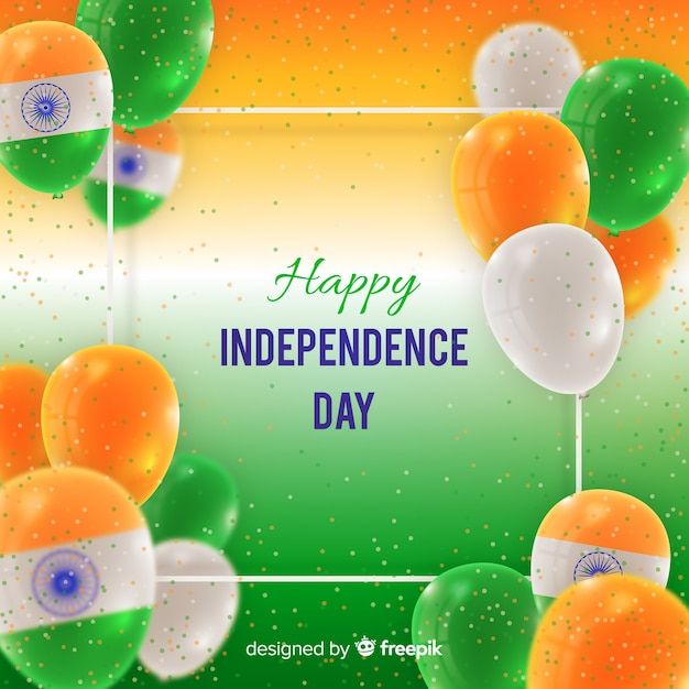 Happy indian independence day  background Free Vector