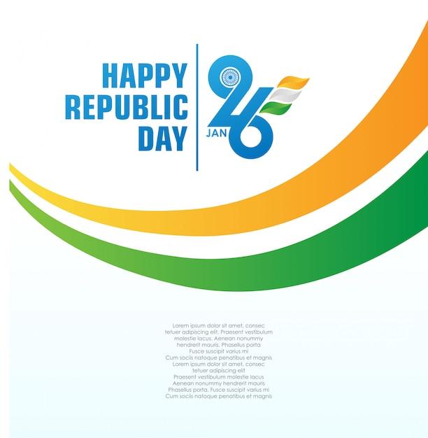 Happy indian republic day background Premium Vector