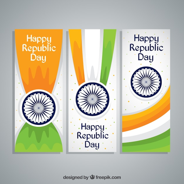 Happy indian republica day banners
