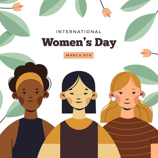 Happy international women's day Premium Vector