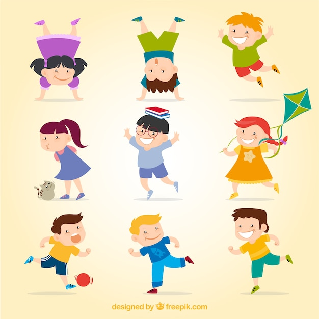 happy kids free vector - Kids Images Free Download