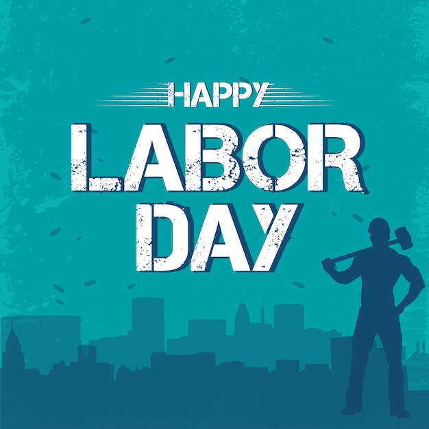 Happy labor day 1st may Premium Vector