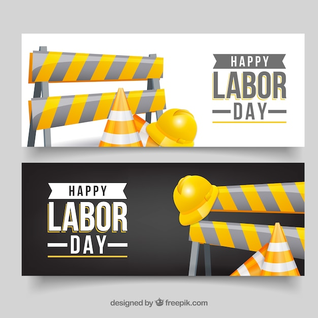 Happy labor day banners