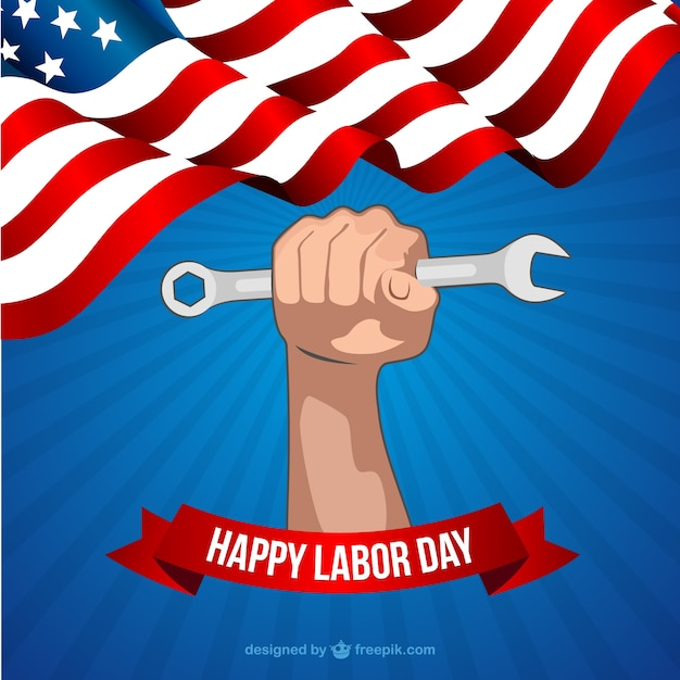 Free Vector Happy Labor Day Card