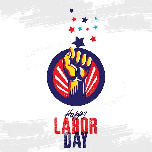 Happy labor day design template. vector illustration Premium Vector