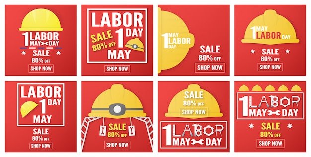 Happy labor day of every country of the world Premium Vector