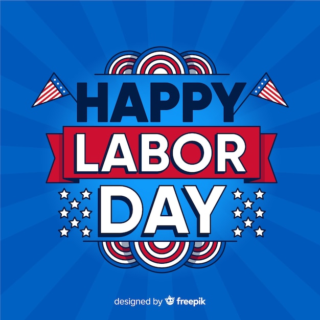 Happy labor day in flat design Free Vector