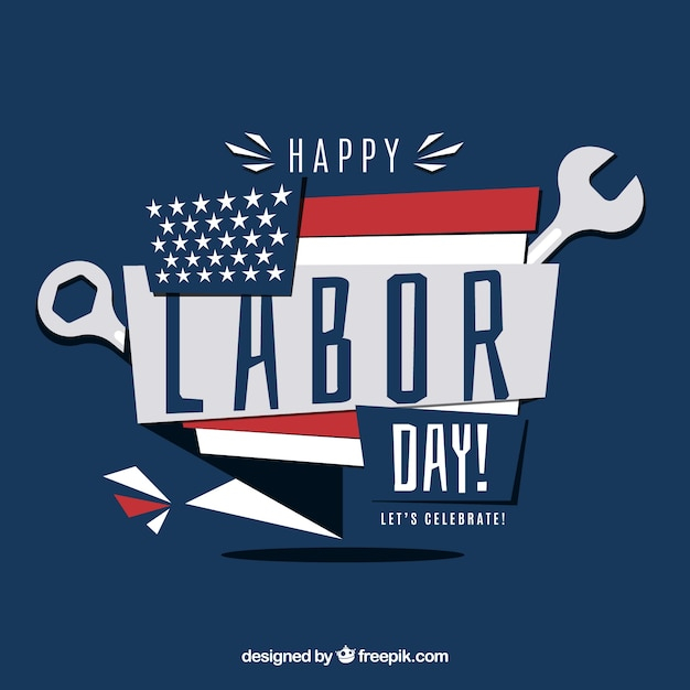 Happy labor day modern background