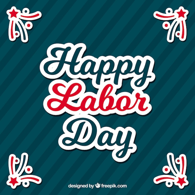 Happy labor day retro background