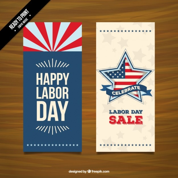 Happy labor day sale banners