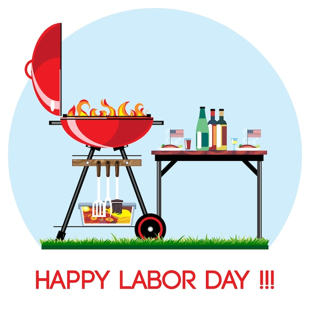 Happy Labor Day Traditional Public Holiday In Usa Vector Premium