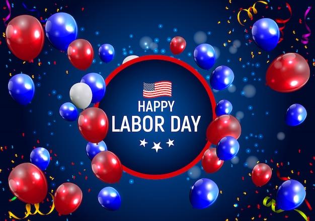 Happy labor day in usa greeting Premium Vector