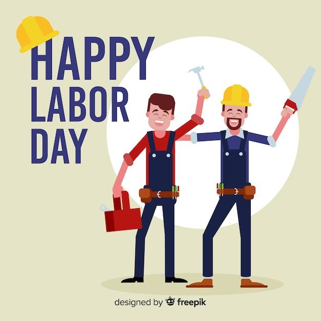Happy labor day Free Vector