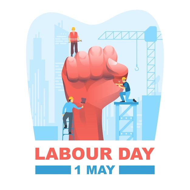Happy labour day Premium Vector