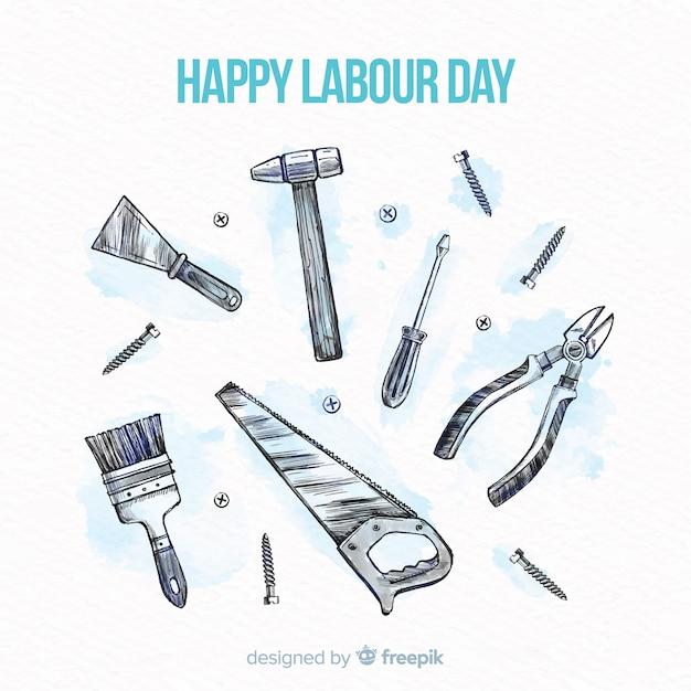 幸せな労働者の日 Premiumベクター