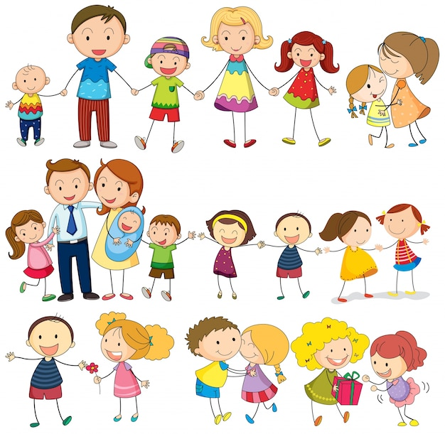 Happy and loving family Free Vector