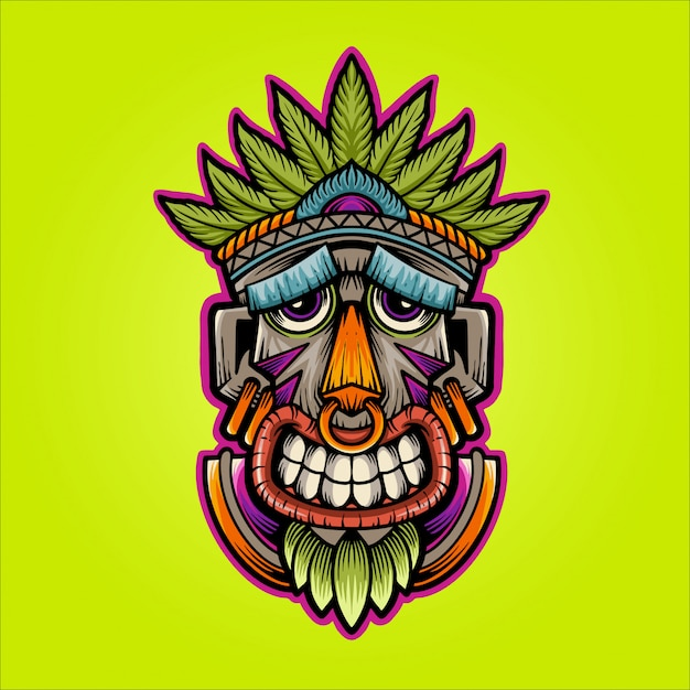 Happy mask illustration Premium Vector