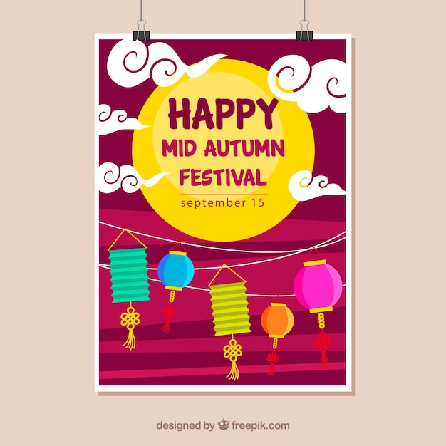Happy mida autumn festival