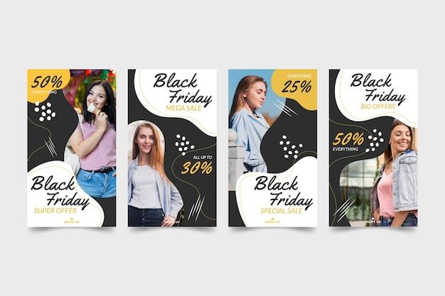 Premium Vector | Happy models hand drawn instagram stories