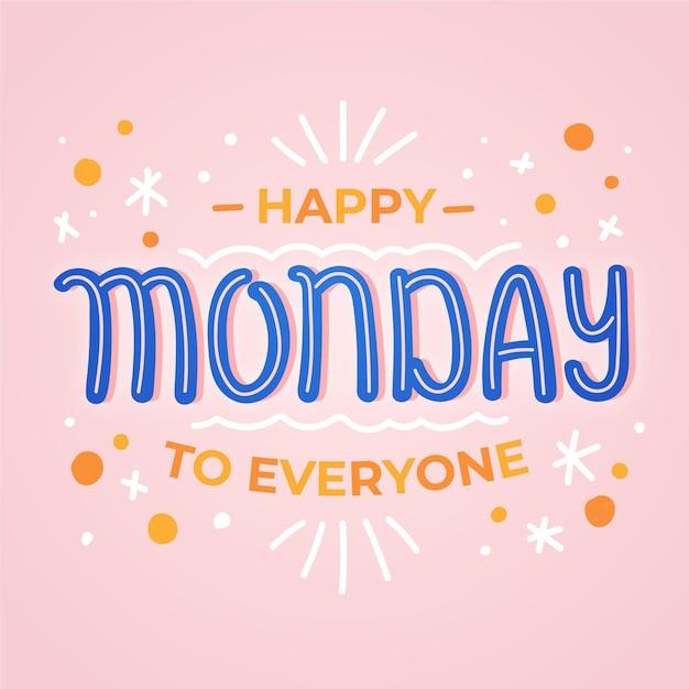 Fondo astratto di lunedì felice Vettore gratuito