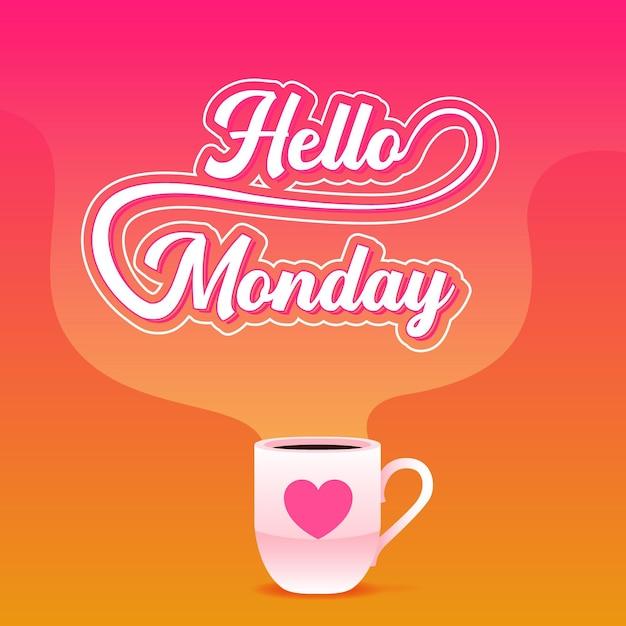 Buon lunedì - sfondo Vettore gratuito