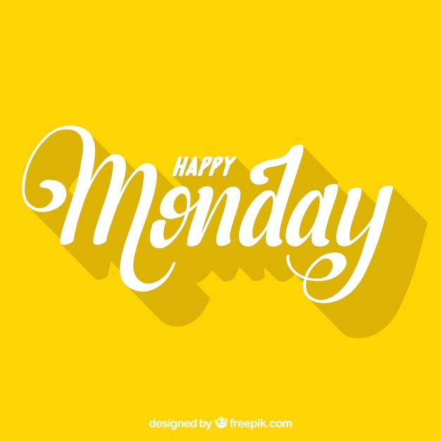 Happy Monday Letters With Shadows Vector Free Download