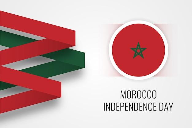 Счастливый день независимости марокко дизайн Premium векторы