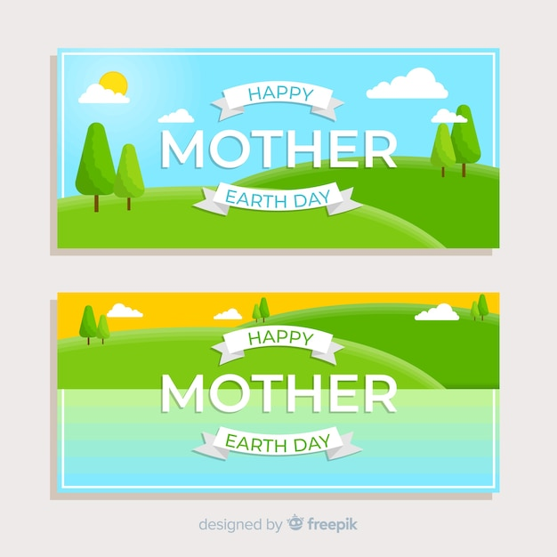 Happy mother earth day Free Vector