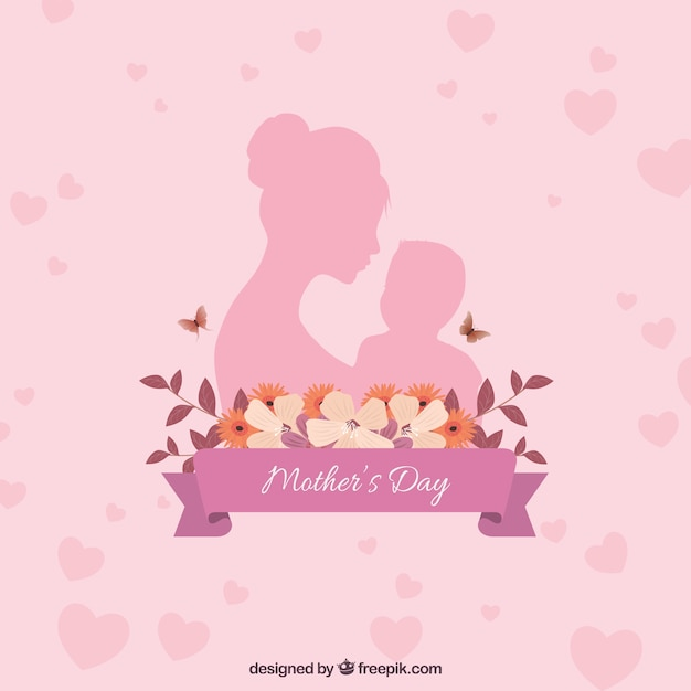 Happy mother\'s day background with\ family