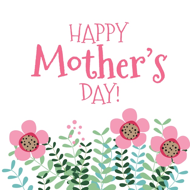 Happy mother\'s day background with\ flowers