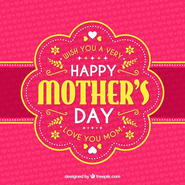 Happy mother's day background with typograhpy Free Vector