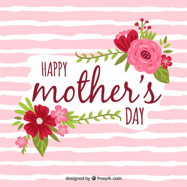Happy mother's day background Free Vector
