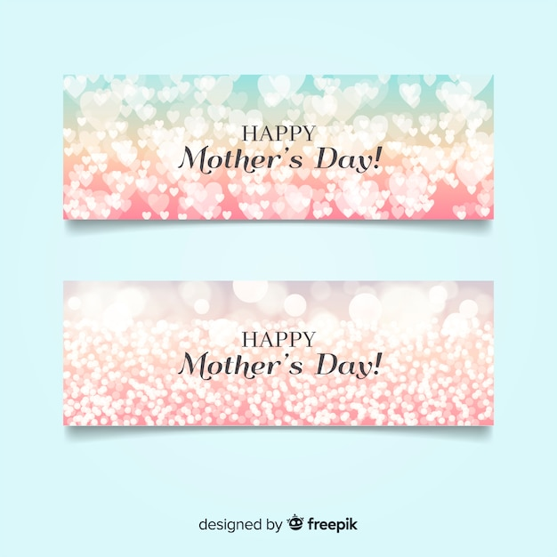 Happy mother's day banner Free Vector