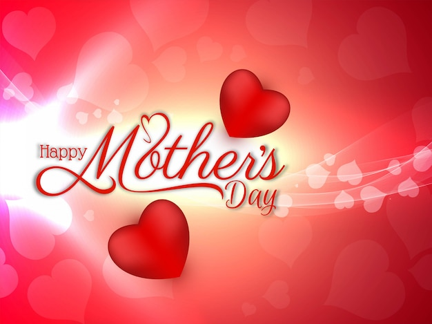 Happy mother's day beautiful bright Free Vector