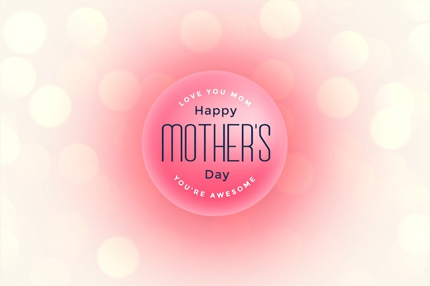 Happy mother's day beautiful greeting Free Vector